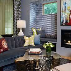 Eclectic Living Room by Andrea Schumacher Interiors
