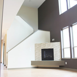 Inspiration for a contemporary living room remodel in Portland