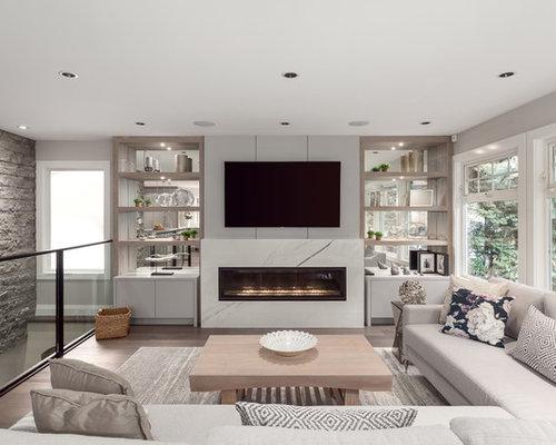 Steinwand Wohnzimmer - Ideen & Bilder | HOUZZ