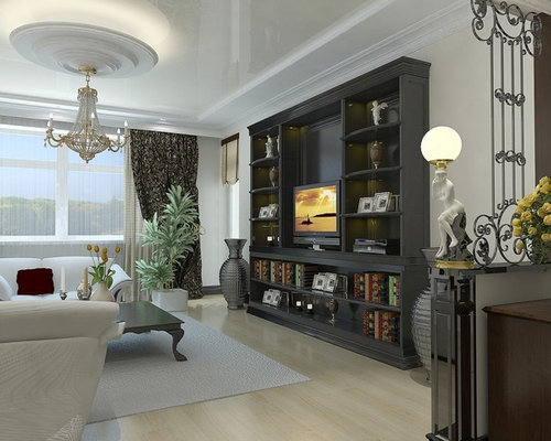 living room wall unit houzz. Black Bedroom Furniture Sets. Home Design Ideas