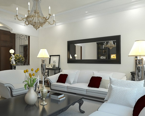 decorate living room walls with mirrors. home decoration ingenious
