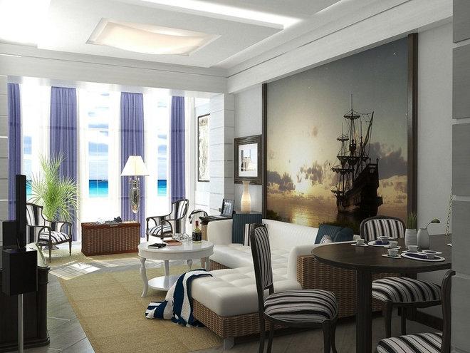 Mediterranean Living Room by Lompier Interior Group