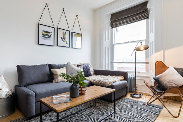 Scandinavian Living Room by At Home with Hostmaker