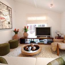 Contemporary Family Room by Silvia Nayla