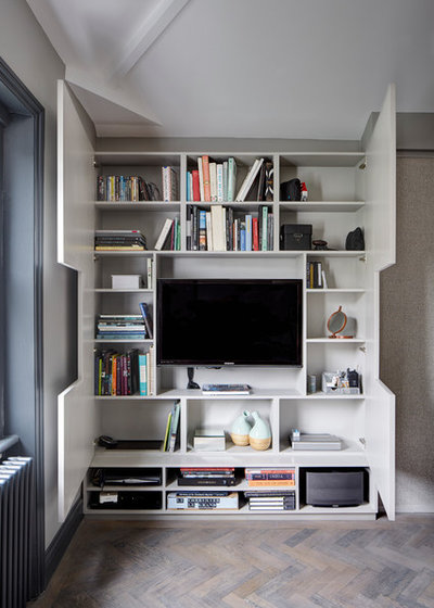 12 clever ideas for living room shelving for Living room shelving ideas