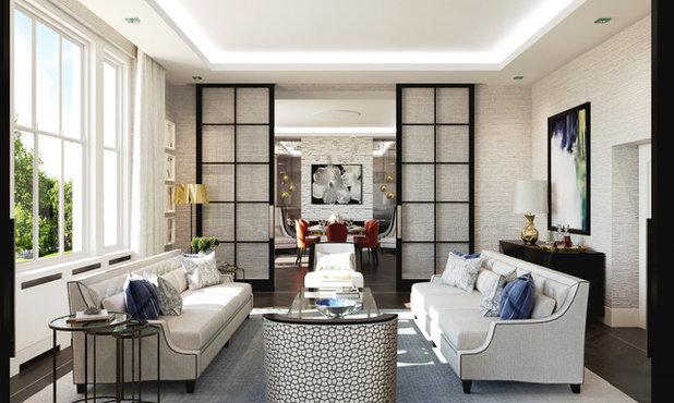 Contemporary Living Room by Falchi Interiors