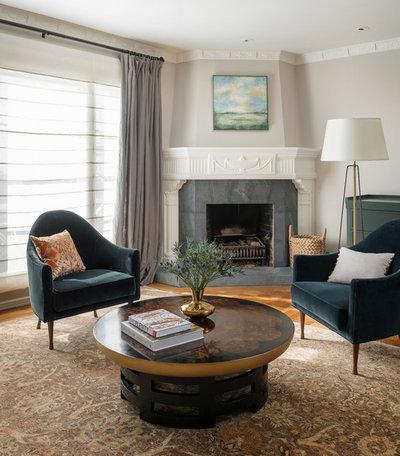 Transitional Living Room by JKA Design