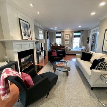 Long and narrow living room