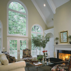 Traditional Living Room by Fieldcrest Builders Inc