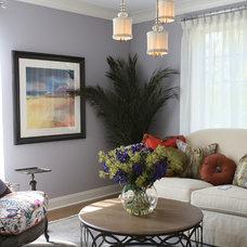 Transitional Living Room by Julian Design