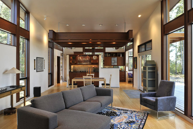 Contemporary living room by david vandervort architects