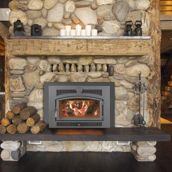 Lopi Fireplace Insert - This Large Flush Wood Hybrid-Fyre®