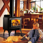 Lopi by Travis Industries - Lopi Republic 1250 Wood Stove - Heating Capacity: 600 - 1,200 sq ft