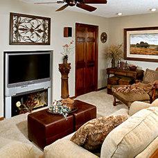 Traditional Living Room by Loren  Reid Seaman