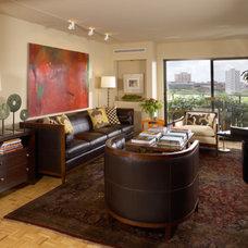 Contemporary Living Room by David Heide Design Studio