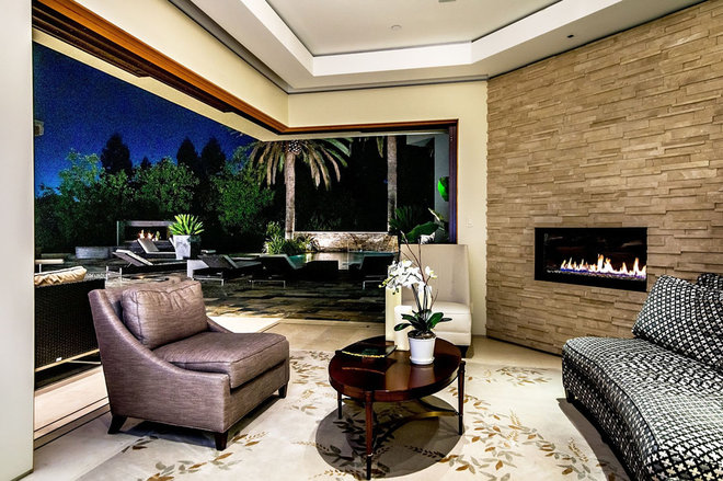 Contemporary Living Room by Stotler Design Group
