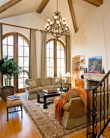 Traditional Living Room by RKI Interior Design
