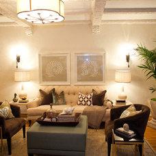 Contemporary Living Room by The Rug Affair & Antique Rug Co.