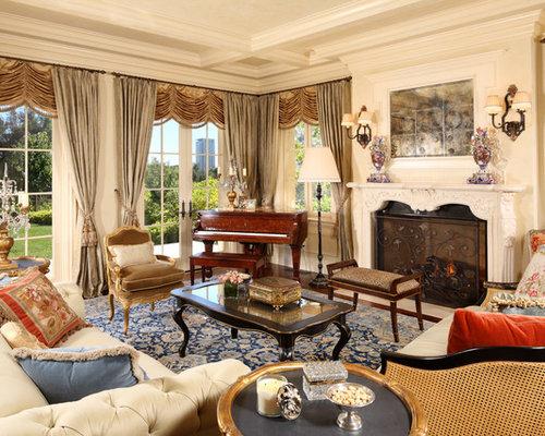 salon victorien avec une salle de musique photos et id es d co de salons. Black Bedroom Furniture Sets. Home Design Ideas