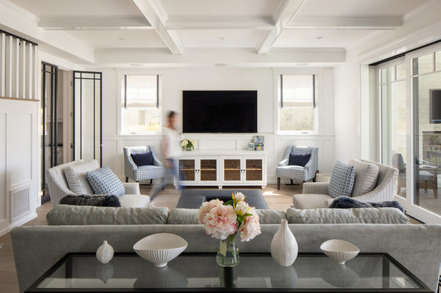 Transitional Living Room by Christine Kimberlee Designs