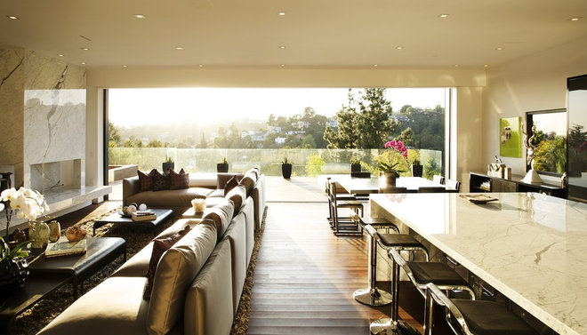 Contemporary Living Room by Michael Kelley Photography