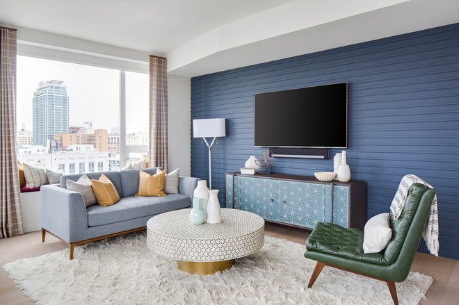 Midcentury Living Room by Lindye Galloway Interiors