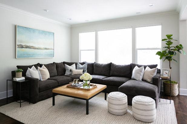Beach Style Living Room by Allison Merritt Design, LLC