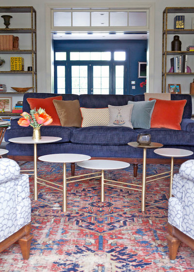 Transitional Living Room by Taylor Jacobson Interior Design