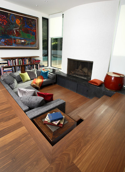 Contemporary Living Room by Amber Flooring