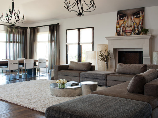Contemporary Family Room by Lizette Marie Interior Design