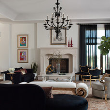 Contemporary Living Room by Lizette Marie Interior Design