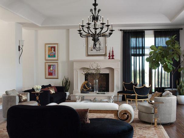 Contemporary Living Room by Lizette Marie Interior Design