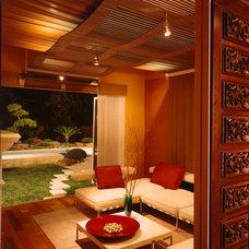 Asian Living Room by Logue Studio Design Inc.