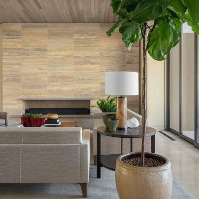 Trendy living room photo in Phoenix