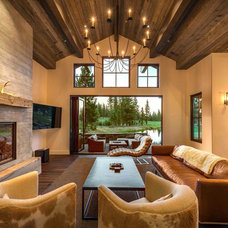 Rustic Living Room by Lot C Architecture