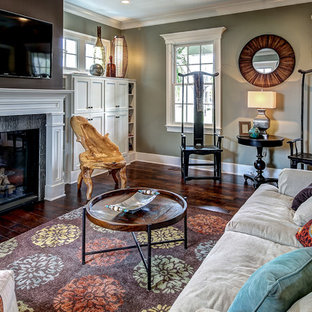 Living room - traditional living room idea in Louisville
