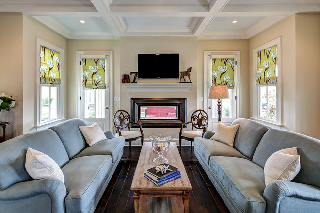 Traditional Living Room by JH Designs
