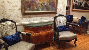 Louis XV Chairs Reupholstered with Custom  Lumbar PIllows
