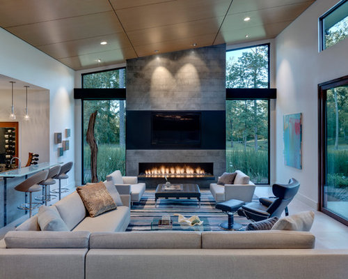 10 Best Living Room with a Bar Ideas & Designs | Houzz