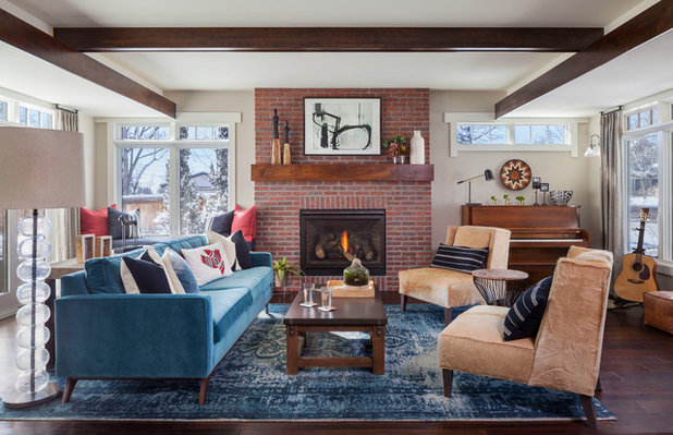 Transitional Living Room by Dragonfly Designs