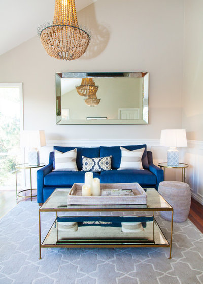 Beach Style Living Room by Jemden Interiors