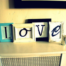Eclectic Living Room LOVE Letters