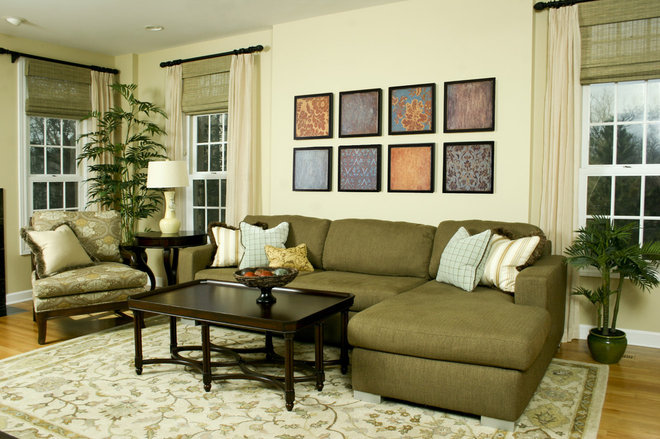 Contemporary Living Room by Chelle Design Group