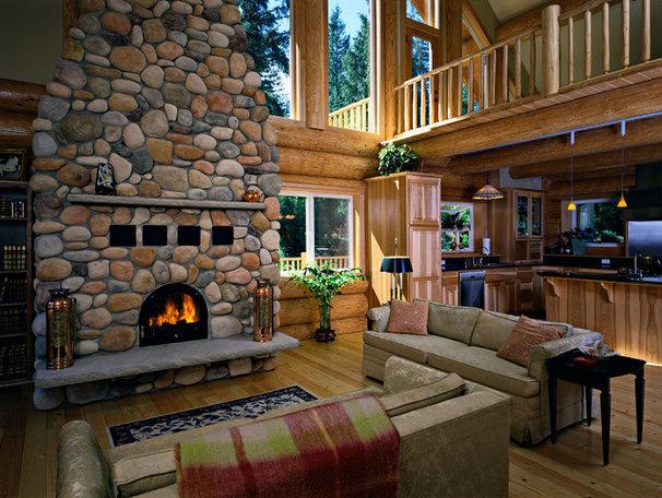 Traditional Living Room by Sam Van Fleet Photography