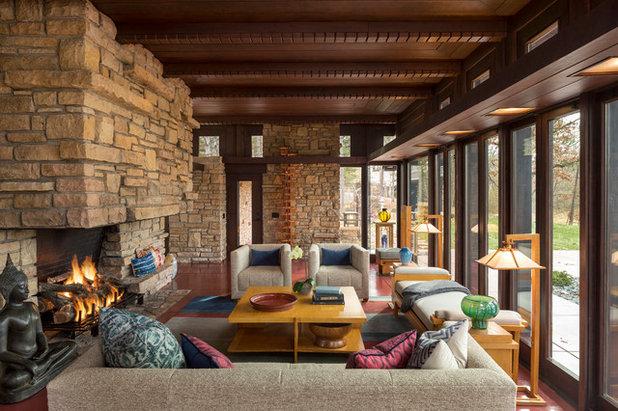 Rustic Living Room by Talla Skogmo Interior Design