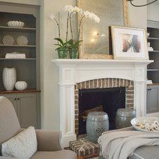 Farmhouse Living Room by J.Banks Design Group