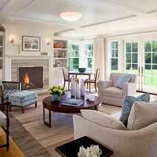 Farmhouse Living Room by Polhemus Savery DaSilva
