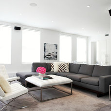 Contemporary Living Room by Vision Build Interiors