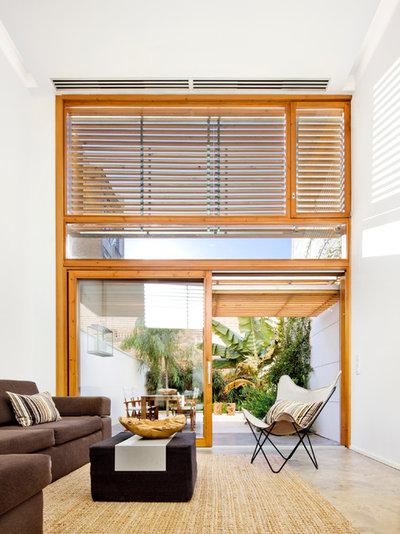 Moderno Salón by Cotacero Taller Arquitectura