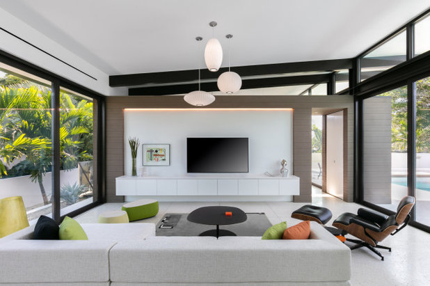 Midcentury Living Room by Hive Architects Inc.